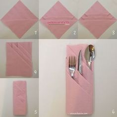 .. folding napkin with bag ..  #Bag #folding #napkin