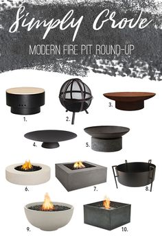 Fire Pit Round-Up via Simply Grove - Feuerstelle Garden Fire Pit, Diy Fire Pit, Fire Pit Backyard, This Old House, Fire Pit Gallery, Fire Pit Materials, Modern Fire Pit, Fire Pit Ring, Fire Pit Furniture