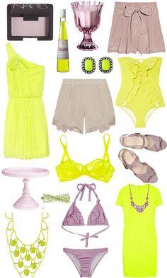 color palette: mauve + citron