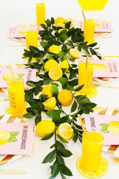 HOW TO STYLE A BEYONCÉ THEMED BRIDAL SHOWER Throw a Beyonce themed party, bridal shower or bachelorette party with our top styling tips! We've included Beyonce themed photo booth props, lyric stickers for glassware and a Beyonce themed bridesmaid card! Bridal Shower Menu, Bridal Shower Games, Bridal Shower Decorations, Yellow Party Decorations, Wedding Centerpieces, Bachelorette Themes, Lemon Party, Summer Bridal Showers, Wedding Showers