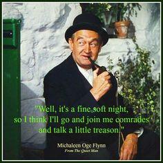 Some Irish Treason - Quote - Sprinkles of Sand John Wayne, Men Quotes, Movie Quotes, The Quiet Man, Westerns, Irish Proverbs, Funny Proverbs, Irish American, American Women