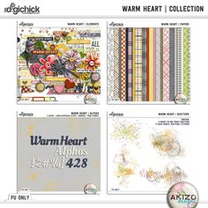 Warm Heart   Collection by Akizo Designs. Free Quickpages when you buy the collection at 44% at The Digichick. Also available in separate packs at 40% off