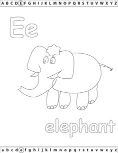 Alphabet Coloring Pages Set 1 | Coloring Pages E