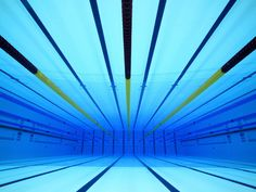 Underwater shot of the new swimming pool for London Olympics 2012
