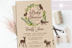 Free customizable forest animal baby shower invite printables we woodland baby shower invitation woodland baby shower woodland invitation rustic baby shower invite printable wreath jadorepaperie filmwisefo