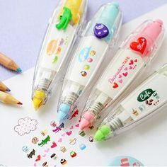 / Wholesale Free Shiping korean cute correction tape kawaii stationery for student school supplies DIY Scrapbooking Stickers Korean Stickers, Kids Stickers, Teacher Stickers, Cartoon Stickers, Kawaii Stickers, Kids Stationery, Kawaii Stationery, Korean Stationery, School Stationery