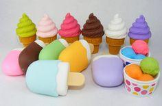 Ice-cream erasers