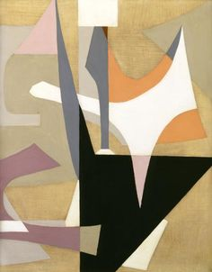 Esphyr Slobodkina (1908–2002) Small Abstraction in Tans, 1940 Oil on Masonite