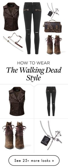 """Michonne"" by a-hint-of-nutmeg on Polyvore featuring IRO, Paige Denim, Doublju, women's clothing, women, female, woman, misses, juniors and Leather"