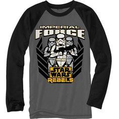 """Star Wars Rebels """"Imperial Force"""" Raglan Tee - Boys 4-7"""