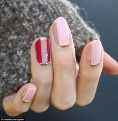 Chic: The wire nail trend can be used minimally, with cuticle accents like in the manicure above
