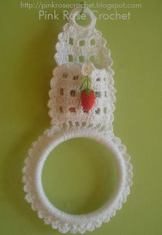 Photo from album Crochet Towel Holders, Crochet Towel Topper, Crochet Gifts, Crochet Baby, Knit Crochet, Crochet Potholders, Crochet Doilies, Crochet Butterfly, Crochet Flowers