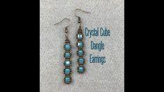 Beaded Earrings, Beaded Bracelets, Beading Needles, Earring Tutorial, Ear Rings, Beading Tutorials, Bead Weaving, Seed Beads, Turquoise Necklace