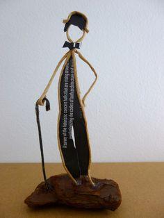 Hommage à Charlot - figurine en ficelle et papier : Accessoires de maison par ficelleetpapier