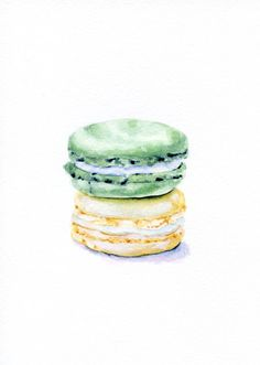 Laduree Macarons Cream and Mint ORIGINAL от ForestSpiritArt