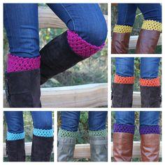 Crochet Boot Toppers Boot Cuffs Leg Warmers -