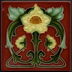 art nouveau tile (indigodreams)