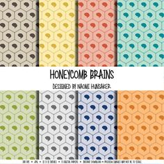 Modern Neuroscience Paper Pack   Honeycomb   Instant Download by handmadephd. Explore more products on http://handmadephd.etsy.com
