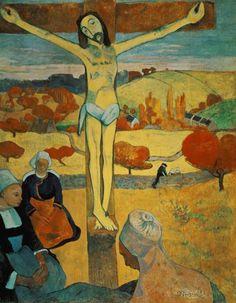 "Jesus on the Cross, by Paul Gauguin, ""Der gelbe Christus"""
