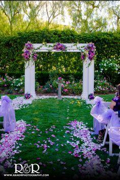 Wedding Decorations | Wedding Florist | Rose Decorations | Rose Petals | Purple & White Wedding | Lavender Rose Petals | Hyatt Valencia | Charmaine's Bouquet Canyon Florist | #roses #decorations #petals #purple #wedding #lavender #white #florist #Charmaine #CarmainesBouquetCanyonFlorist