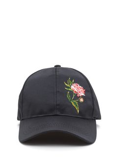 ... Cat Ears Baseball Cap (Big Girls). Smell The Roses Satin Baseball Hat  BLACK - GoJane.com eb8ae6689b6