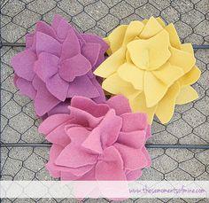 felt flower tutorial by Willow Handmade, via Flickr