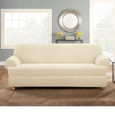 Chaise Sofa Sure Fit Stretch Pinstripe Piece T Cushion Sofa Slipcover