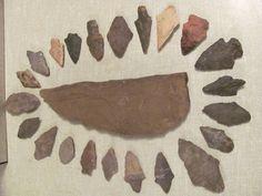 indian spearhead\ arrowhead collection