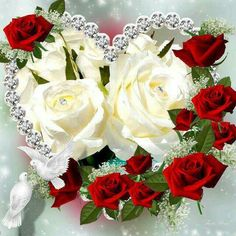 To my dear Joe♡♡♡,Love you ♡, Heart Pictures, Heart Images, Beautiful Love, Beautiful Flowers, Happy Birthday Pictures, Hearts And Roses, Red Roses, Floral Pins, Romantic Pictures