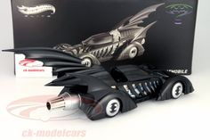 BCJ98: Batmobile Batman Forever Movie 1995 mattschwarz 1:18 HotWheels Elite, EAN 746775286002Hersteller: HotWheels Elite Maßstab: 1:18 Fahrzeug: Batmobile Baujahr: 1995 Artikelnummer: BCJ98 Farbe: mattschwarz EAN 746775286002