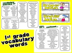 ELA Common Core Vocabulary Cards for K-2