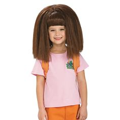 Dora Wig - OrientalTrading.com is this not just the cutest - funniest wig???? LOL