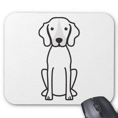 Treeing Walker Coonhound Dog Cartoon Mousepad