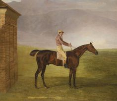 Benjamin Marshall 1768 - 1835 BRITISH MR. HENRY VANSITTART'S CHESTNUT COLT BURLEIGH WITH SAM CHIFNEY UP, BY THE RUBBING-DOWN HOUSE AT NEWMARKET inscribed BURLEIGH, signed B Marshall, and dated 1812