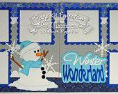 Scrapbook Page Kit Winter Wonderland 2 page Scrapbook Layout Kit 125