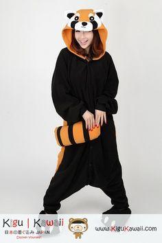 Racoon Red Panda Animal Adult Kigurumi Onesie 浣熊