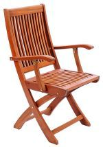Achla OFC02 Folding Chair with Arms