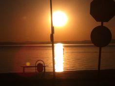 Famoso pôr do sol de Porto Alegre. Na praia de Ipanema.