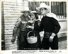 Sons of the Pioneers - Bob Nolan, Iris Meredith and Charles Starrett. (Calin Coburn Collections)