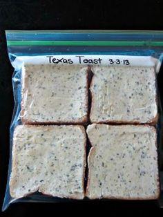 Texas Toast Make Your Own Freezer Garlic Texas Toast - better than store-bought!Make Your Own Freezer Garlic Texas Toast - better than store-bought! Make Ahead Freezer Meals, Crock Pot Freezer, Freezer Cooking, Cooking Recipes, Freezer Recipes, Freezer Desserts, Bulk Cooking, Freezer Biscuits Recipe, Drink Recipes