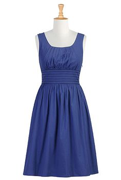 Cool site : : Super cute dresses, like this one :: Banded waist poplin dress