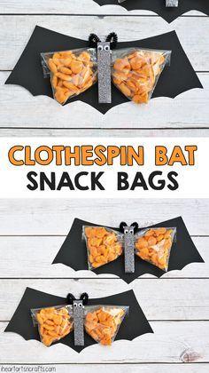 Clothespin Bat Preschool Halloween Snack