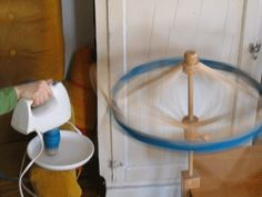 Fig and Plum: Yarn Swift! (and Electric Mixer Yarn Winding Tutorial) Spinning Wheels, Spinning Yarn, Yarn Crafts, Diy Crafts, Yarn Winder, Yarn Painting, Electric Mixer, Thing 1, Fig