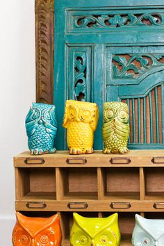 """Ceramic Owl """"No Evil"""" Trio ~ always a best seller, these little fellas are just too cute."""