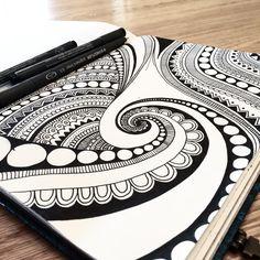 Beautiful art | Pen & ink | Zentangle style | Love it!