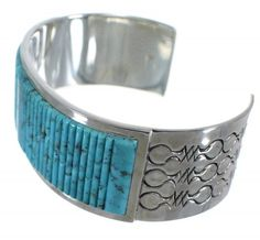 Genuine Sterling Silver Turquoise Southwest Cuff Bracelet www.turquoisejewelry.com