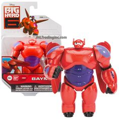 Bandai Year 2014 Disney Big Hero 6 Movie Series 412 Inch Tall Action Figure Red Suit BAYMAX with 2 Removable Wings * More info could be found at the image url. Big Hero 6, Hero 6 Movie, Red Suit, Trailer, Baymax, Series 4, Baby Disney, Action Figures, How To Remove