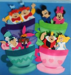 Disney Mad Hatter's Tea Cups Attraction Paper Piece Set 4 Scrapbook Pages,Layout Christmas Scrapbook Layouts, Disney Scrapbook Pages, Scrapbook Page Layouts, Scrapbook Paper Crafts, Scrapbooking Ideas, Mad Hatter Tea, Mad Hatters, Disney Time, Disney Souvenirs