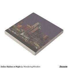 Dallas Skyline at Night Stone Coasters (x10)
