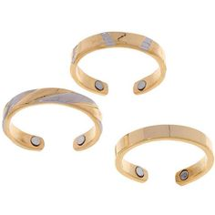 24k Gold-plated Two-tone Magnetic Toe Ring